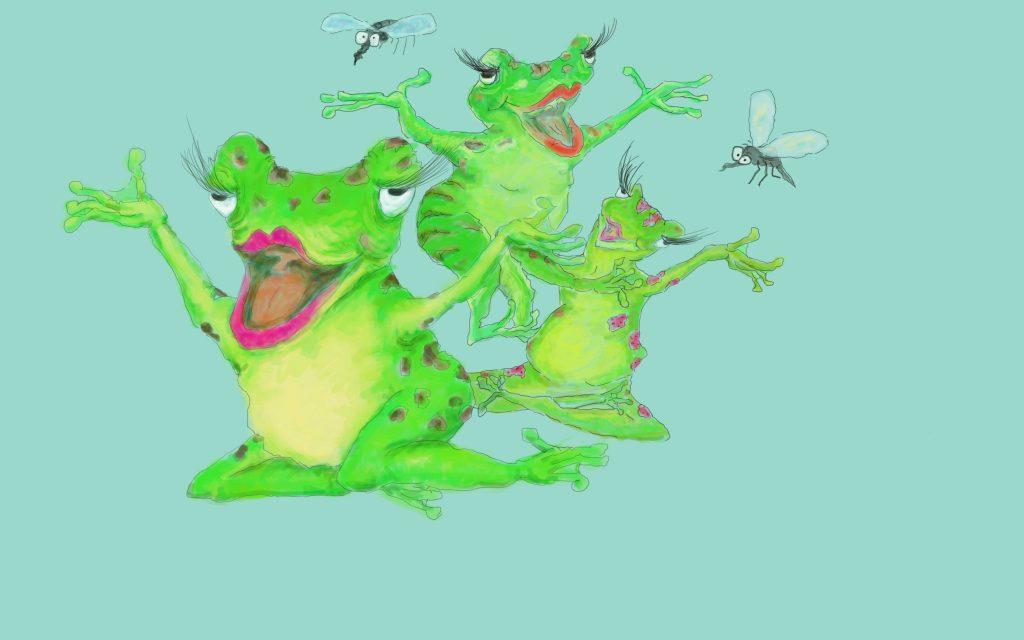 Froschdamenchor The Slimy Green Wellentines